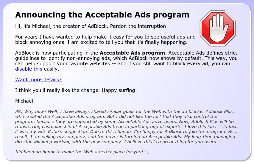 Acceptable Ads